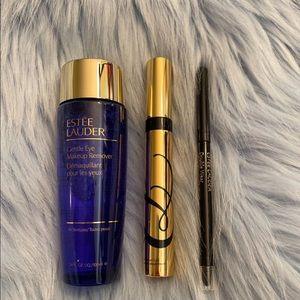 Estée Lauder set mascara eyeliner makeup remover
